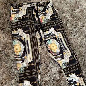 Silk Fashion Nova Pants (Versace Pattern)